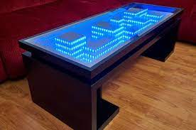 homemade cityscape coffee table