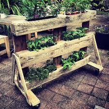 furniture of pallets. Garden Pot Organizer Furniture Of Pallets