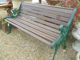 iron and wood patio furniture. CAST IRON END AND WOOD GARDEN BENCH Iron And Wood Patio Furniture