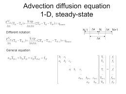 advection diffusion equation 1 d steady state
