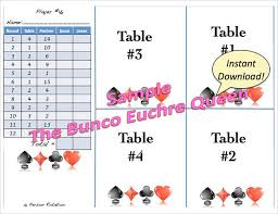 Sample Euchre Score Card 5 Documents In Pdf Word