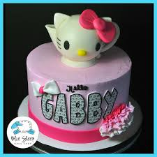 Hello Kitty Teapot Birthday Cake Blue Sheep Bake Shop