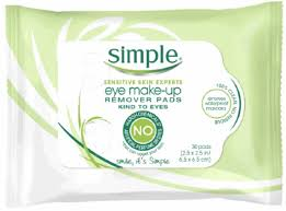 simple sensitive skin experts eye makeup remover pads