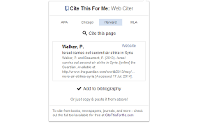 cite this for me web citer chrome web store automatically create website citations in the apa mla chicago or harvard referencing styles at the click of a button