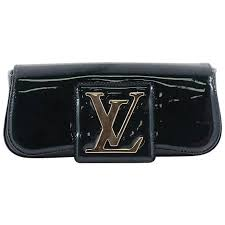 louis vuitton sobe patent leather clutch bag for