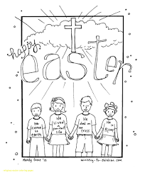 Religious Easter Coloring Pages Best For Kids Of Viettiinfo