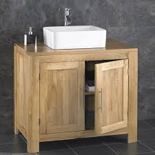 bathroom basin furniture. Alta Solid Oak Double Door Bathroom Cabinet With Basin Furniture A