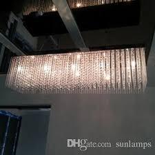 100cm long hanging glass chandelier crystal light for restaurant led star light dining room restaurant led pendant lamp res de cristal crystal