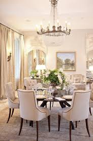 an elegant understated dining room i like the sitting area against the wall