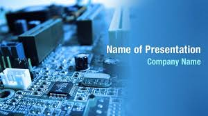 Powerpoint Circuit Theme Circuit Board Parts Powerpoint Templates Circuit Board