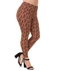Plus Size Patterned Leggings