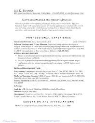 Free Software Engineering Manager Resume Example Templates At