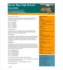 Elementary School Email Newsletter Template 7 School Newsletter