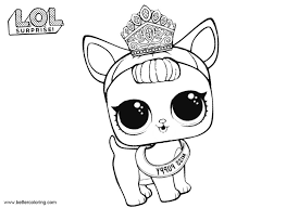 Lol Pets Coloring Pages Miss Puppy Free Printable Coloring Pages