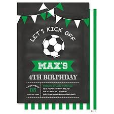 Soccer Party Invite Amazon Com Soccer Ball Chalkboard Bunting Birthday Party