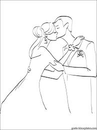 Huwelijkskus Kleurplaat Gratis Kleurplaten
