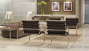 stylish office tables. Waiting Area With MR Lounge Chairs, Pfister Sofa And Florence Knoll End Coffee Tables Stylish Office
