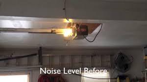 how to silence a noisy genie garage door opener
