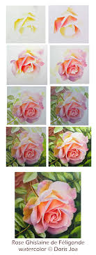 how to paint the beautiful rose ghislaine de féligonde
