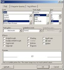 Embossing Text Microsoft Word