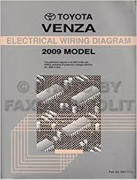 venza wiring diagram venza printable wiring diagrams database description 2009 toyota venza wiring diagram manual original paperback 2009