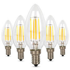 5 Watt Candle Light Bulbs Albrillo Candle Light Bulbs 40 Watt Equivalent 4w E12 Led