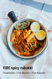Tteokbokki Fire Ramen Fire Rabokki Recipe Asian Food Recipes