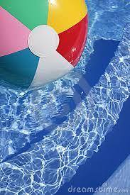 swimming pool beach ball background. Swimming Pool Beach Ball Background