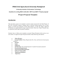 It Project Proposal Template Free Download Course Project Proposal Template