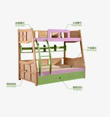 Cartoon Color Bunk Beds Crib Childrens Bed Bed PNG and PSD File