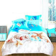 tropical themed bedding beach themed bedding sets tropical island themed bedding ocean blue beige and brown seashell and starfish print marine life tropical
