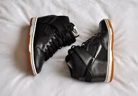nike dunk sky hi black leather