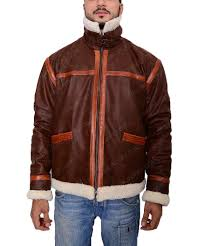 resident evil 4 shearling brown leather jacket