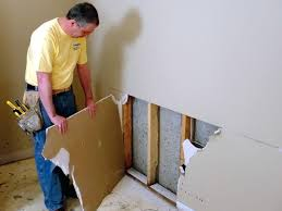 drywall repair installed in montauk basement