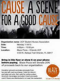 flyers orlando blaze partial proceeds successful student nurses association ucf