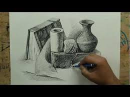 still life with pencil by artist sikander singh m4v