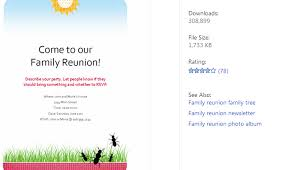 Family Reunion Flyer Templates Free 3 Free Family Reunion Flyer Templates Af Templates