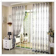 grey patterned sheer curtains
