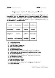 Cantar Conjugation Chart Magic Square On Spanish Imperfect Tense Conjugation Of