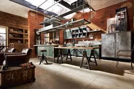 Industrial Home Design Plans Open Plan Industrial Kitchen Interior Design Ideas
