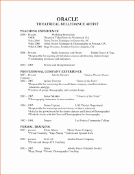 Dance Audition Resume Lovely Dance Resume Template Free Actor