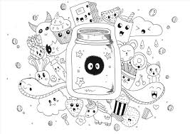 Printable Food Coloring Pages Or Kawaii Food Coloring Pages