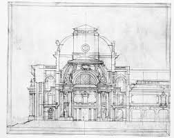 architectural design drawing. Cool Architecture Design Drawings Of Classic Architectural Drawing