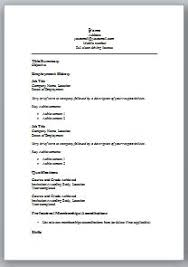 Simple Resume Templates Word 19 Basic Examples Alexa Format For ...