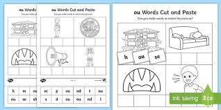 Phonics worksheets to support your child's learning and help them prepare for the year 1 phonics screening check. Ou Sound Cut And Stick Worksheet Teacher Made