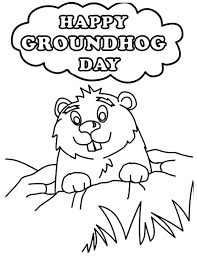 Small Picture Groundhog Day Coloring Pages Free Coloring Groundhog Day Coloring