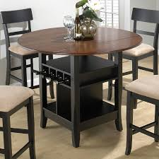 furniture appealing dark wood spectator height bar stools with round tables and pedestal dining table on beige rugs barstool extra tall