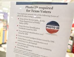 Changes Voter Requirements Texas In Coming Id