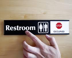 occupied bathroom sign. Bathroom Occupied Signs Sign O