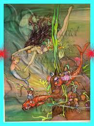 ART NOUVEAU MERMAID Fairy Tale Mermaid Merbaby Postcard Quilt & Like this item? Adamdwight.com